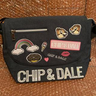 ディズニー(Disney)のディズニーChip&Daleポリワッペン付きメッセンジャーバッグ(ショルダーバッグ)