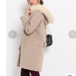 クチュールブローチ(Couture Brooch)の【美品】フードファーコート(毛皮/ファーコート)