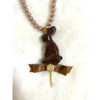 キューポット(Q-pot.)のQ-pot ウサギモチーフチョコレートネックレス(ネックレス)