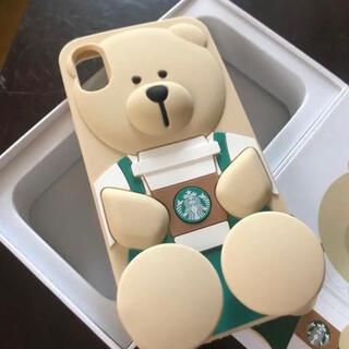 スターバックスコーヒー(Starbucks Coffee)のレア 海外スタバ ベアリスタ スマホケース iPhone X 新品未使用(iPhoneケース)