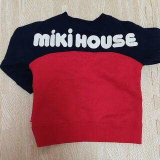 mikihouse - 美品 ミキハウス バックロゴトレーナー 70