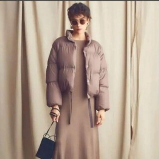 ミラオーウェン(Mila Owen)のミラオーウェン 裾リボンソフトショートダウン(ダウンジャケット)