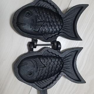 南部鉄器 南部盛栄堂 たい焼き 焼き器(調理道具/製菓道具)