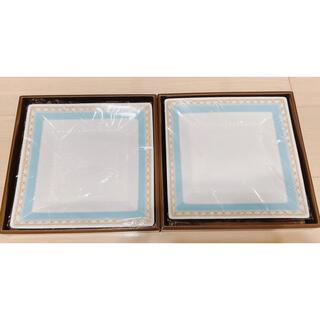 ノリタケ(Noritake)のNORITAKE  ハミングブルー 23cm スクエアプレート お皿 2枚セット(食器)