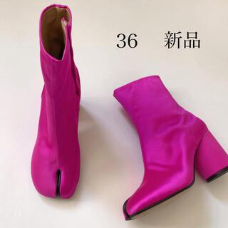 Maison Martin Margiela - 新品/36 メゾン マルジェラ ネオン ピンク タビ 足袋ブーツ