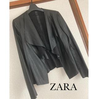 ザラ(ZARA)のZARA◆ドレープジャケット(ノーカラージャケット)