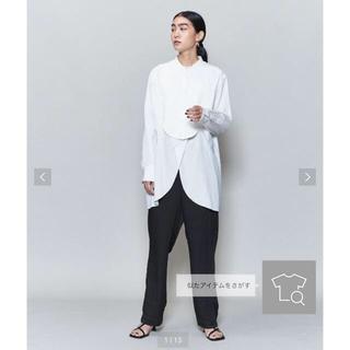 ビューティアンドユースユナイテッドアローズ(BEAUTY&YOUTH UNITED ARROWS)の美品 roku ロク ドレスシャツ DRESS SHIRT ホワイト 36(シャツ/ブラウス(長袖/七分))