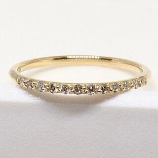 アーカー(AHKAH)のアーカー ドゥーズブリエ リング k18 ハーフエタニティ(リング(指輪))