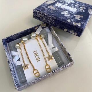 Dior - クリスチャンディオール  dior  ロング ピアス ゴールド