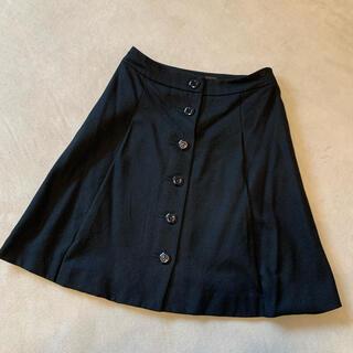 アクアガール(aquagirl)のフレアスカート 黒 アクアガール CROLLA(ひざ丈スカート)