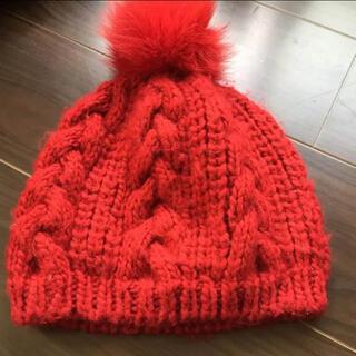 エルディーエス(LDS)のポンポン帽子 LDS(ニット帽/ビーニー)