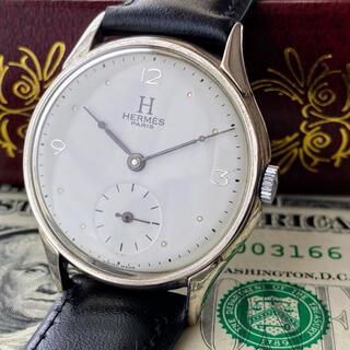 Hermes - 激レア【OH済】HERMES ◆ エルメス ビンテージ 手巻き機械式 腕時計