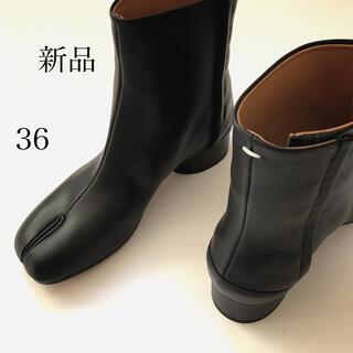 マルタンマルジェラ(Maison Martin Margiela)の新品/36 メゾン マルジェラ ローヒール タビ 足袋ブーツ ブラック(ブーツ)