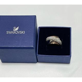 SWAROVSKI - 美品■スワロフスキー SWAROVSKI リング クリスタル ゴールドシルバー