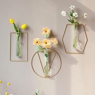 Francfranc - 【円型】ワイヤーフラワーベース 壁掛け 花瓶