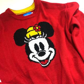 ディズニー(Disney)のディズニー Disney resort  ミニーマウス セーター サイズL 美品(ニット/セーター)