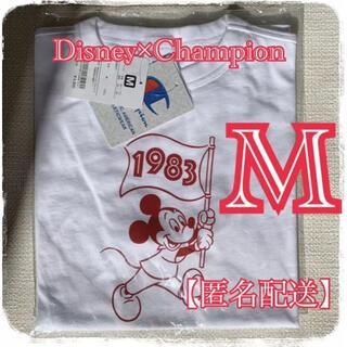 【新春セール中】東京ディズニー チャンピオン コラボ 白 Mサイズ Tシャツ