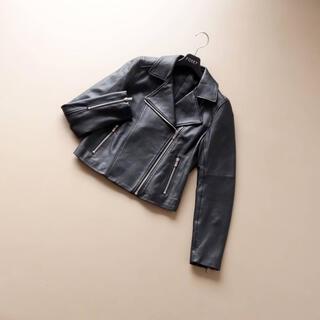 アナイ(ANAYI)の■アナイ■ 38 黒 レザージャケット ショート丈 ライダーズ(ライダースジャケット)
