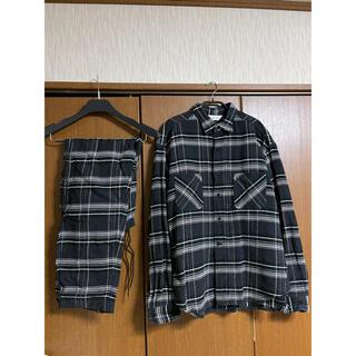 アンユーズド(UNUSED)のunused チェックシャツ パンツ セットアップ(シャツ)