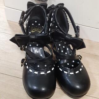 アンジェリックプリティー(Angelic Pretty)のアンジェリックプリティ 靴 ヒール ブラック(ハイヒール/パンプス)