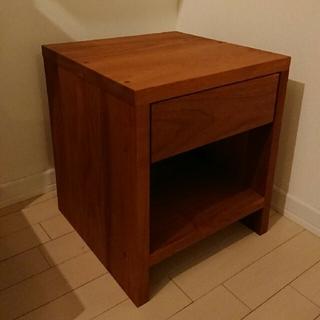 マスターウォール MORELESS サイドテーブル 無垢 ウォールナット(棚/ラック/タンス)