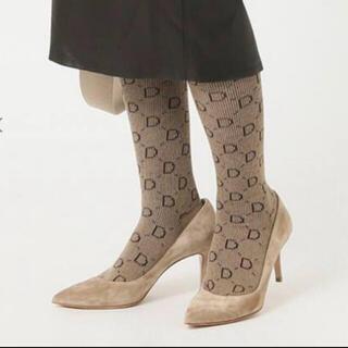DEUXIEME CLASSE - DEUXIEME CLASSE  jacquard socks ベージュ 新品