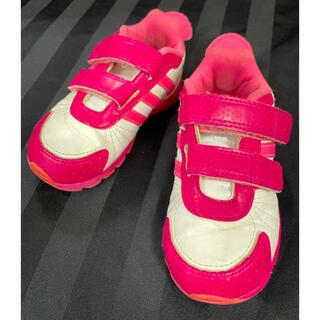 アディダス(adidas)のadidas スニーカー レザー ピンク×ホワイト 14cm(スニーカー)