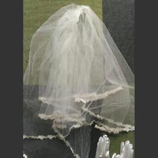 ブライダル ショートグローブ、ベールセット(ウェディングドレス)