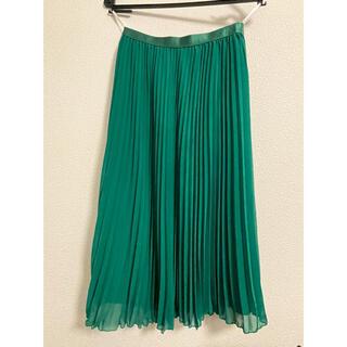 ストロベリーフィールズ(STRAWBERRY-FIELDS)のシフォンプリーツスカート(ひざ丈スカート)