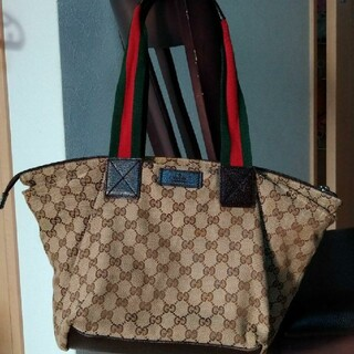 Gucci - グッチ トートバッグ gg シェリーライン キャンバスバッグ