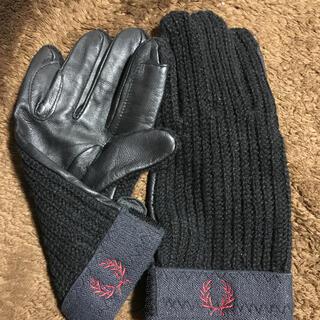 フレッドペリー(FRED PERRY)の新品 フレッドペリー  手袋 ニット レザー (手袋)