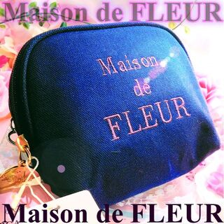 メゾンドフルール(Maison de FLEUR)のメゾンドフルール オーガニックコットンポーチティッシュ ネイビー(ポーチ)
