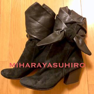 ミハラヤスヒロ(MIHARAYASUHIRO)の【ミハラ ヤスヒロ】個性的ショートブーツ ブーティー スエードブーツ(ブーツ)
