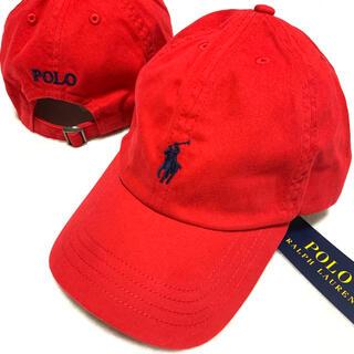 ポロラルフローレン(POLO RALPH LAUREN)の56㎝ / 8-20 / レッド 新品 クラシック スポーツキャップ(帽子)