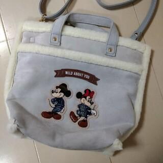 ディズニー(Disney)のアコモデ ミッキーミニーマウス ムートン風ショルダーバッグ(ショルダーバッグ)