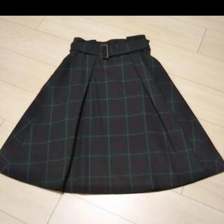 STRAWBERRY-FIELDS - ユニバーサルミューズ チェックスカートフレアスカート プリーツスカート