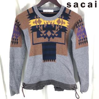 サカイラック(sacai luck)のsacai luck ノルディック柄 切り替え ニット 1(ニット/セーター)