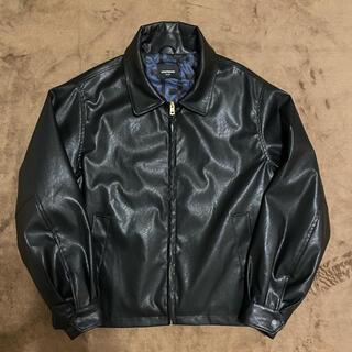 unknown vegan leather jacket(レザージャケット)
