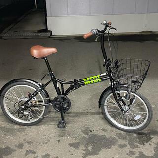 20インチ 折り畳み自転車 6段変速 ダイナモライト 美品(自転車本体)