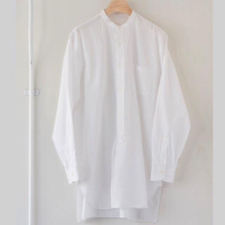COMOLI - COMOLI (コモリ) バンドカラーシャツ   2021ss サイズ3