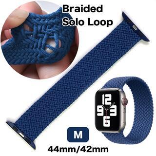 アップルウォッチ(Apple Watch)のブレイデッドソロループ M【A・ブルー】Apple Watch 42/44(ラバーベルト)