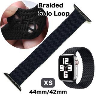 アップルウォッチ(Apple Watch)のブレイデッドソロループ XS【チャコール】Apple Watch 42/44(ラバーベルト)