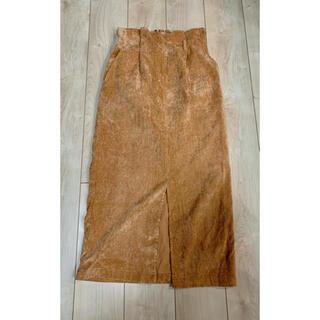 ダブルクローゼット(w closet)のw closet♡ロングスカート♡オレンジ(ロングスカート)