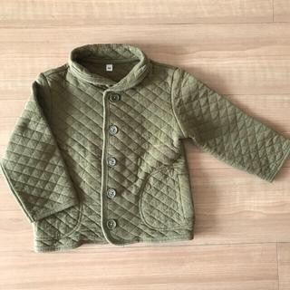 MUJI (無印良品) - 無印良品 アウター キルティングジャケット 男の子 女の子90