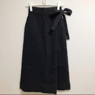 SOMETHING - 【未使用】ナノ・ユニバース✖️SOMETHING/別注ラップスカート Sサイズ