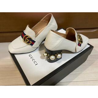 Gucci - Gucci グッチパールスターズ レザーミュールパンプスヒール7cm サイズ34