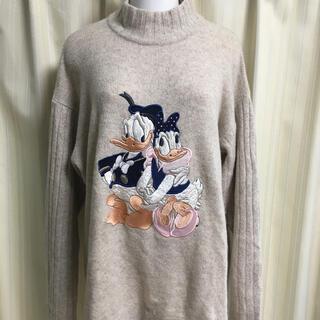 ディズニー(Disney)のドナルド ディズニー デイジー セーター ニット イタリア ドナデジ 刺繍(ニット/セーター)