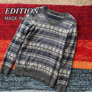 エディション(Edition)のEDITION エディション ウール ニット セーター 日本製 雪柄(ニット/セーター)