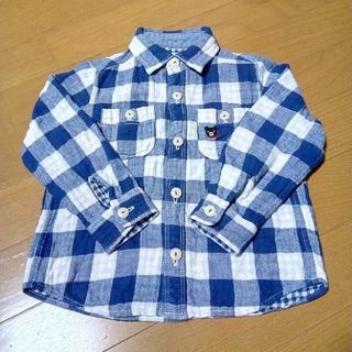 ダブルビー(DOUBLE.B)の100 ミキハウス ダブルB チェックシャツ(Tシャツ/カットソー)