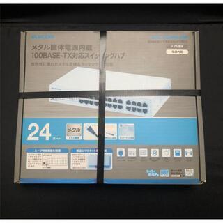 ELECOM - 新品 スイッチングハブ24ポート10/100Mbps EHC-F24MN-HW